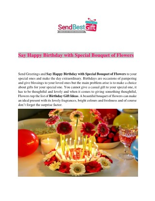 Say Happy Birthday with Special Bouquet of Flowers