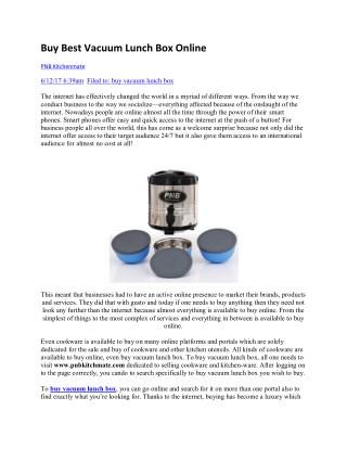 Buy Best Vacuum Lunch Box Online