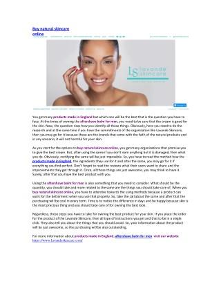 Buy natural skincare online