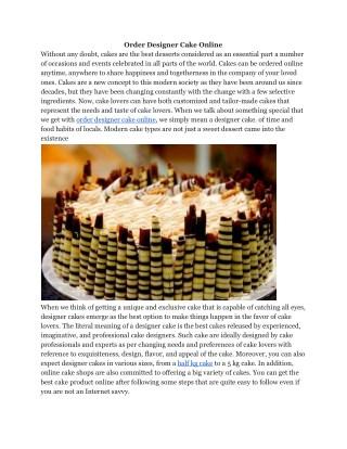 Order Designer Cakes Online