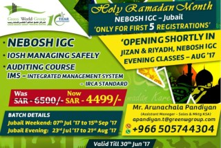 Nebosh IGC Training Courses in Jubail Saudi arabia