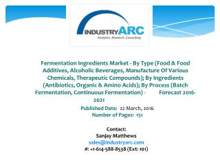 Fermentation Ingredients Market Gaining in Popularity in Mumbai's Eateries
