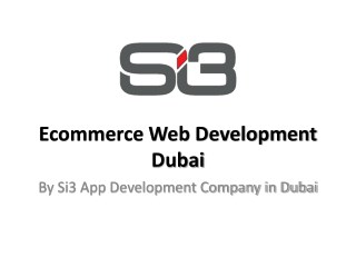 Ecommerce Web Development Dubai