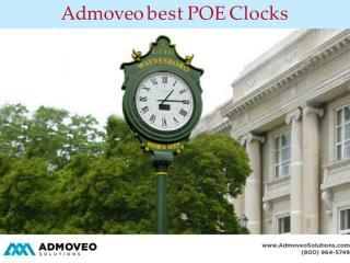 Admoveo Solutions Best POE Clocks
