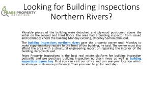 Looking for building inspections northern rivers
