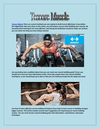 Tescore Muscle Creatine may be a good