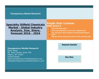 Specialty Oilfield Chemicals Market - Improves Recovery Of Oil From Oil-Well, Research 2024