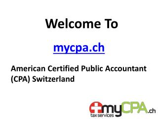 mycpa.com A Swiss Certified Public Accountant