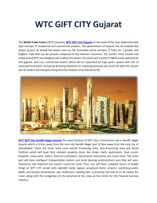 WTC GIFT City Gujarat
