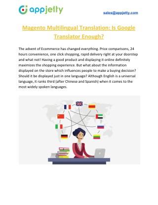 Magento Multilingual Translation: Is Google Translator Enough?