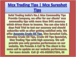 100% Best Commodity Crude Oil Calls, Commodity Tips Specialist Call @  91-9205917204