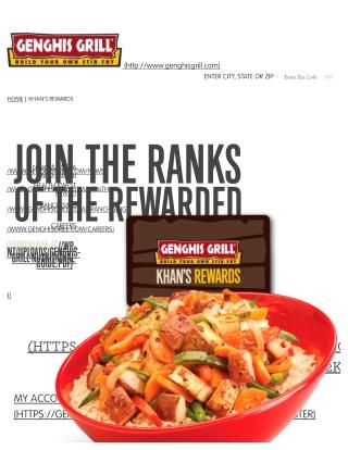 Genghis Grill's loyalty program  - Khan's Rewards