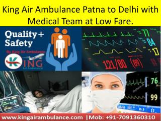 Best Medical ICU Facilities Air Ambulance Services in Patna and Ranchi