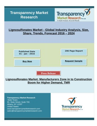 Lignosulfonates Market: Manufacturers Zone in to Construction Boom for Higher Demand