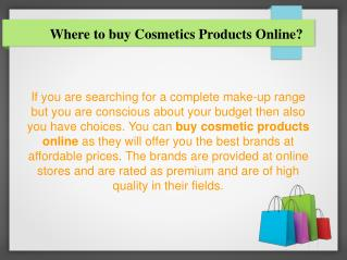 Where to Buy Cosmetics Products Online?