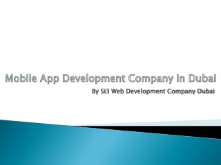 Mobile app development company in dubai