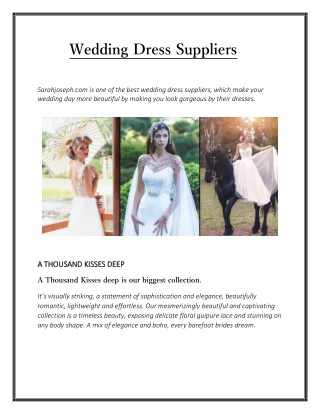Wedding Dress Suppliers - Sarahjoseph