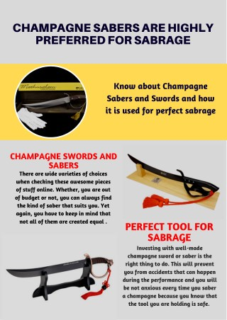 Pricey Champagne Sabers for Execution