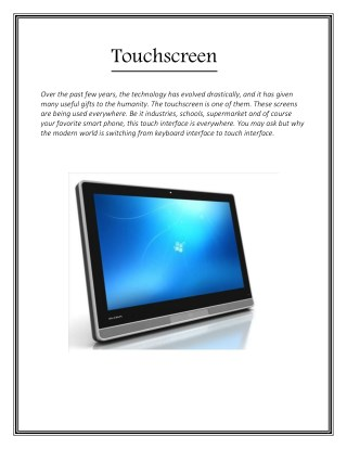 Touchscreen - innova