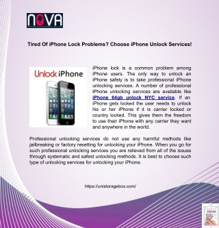 Tired Of Iphone Lock Problems? Choose Iphone Unlock Services!