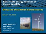 Renewable Energy Facilities at Closed Landfills