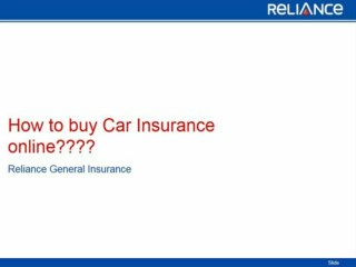How to buy Car Insurance online part 2-Reliance General Insurance