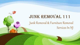 Junk Removal & Furniture Removal Services In NJ