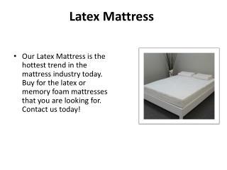 Latex mattress Canada