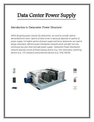 Data Center Power Supply - Datacenter-serverroom