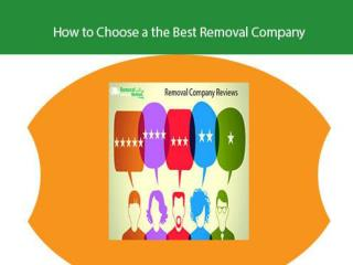How to select Best Removal Company