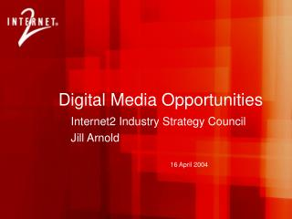 Digital Media Opportunities