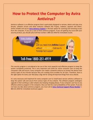 How to Protect the Computer by Avira Antivirus?
