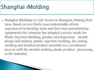 Shanghai iMolding |  1-407-9822797
