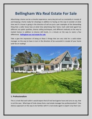 bellingham wa real estate for sale