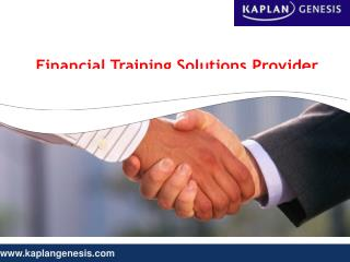 Finance & Accounting Courses with Kaplan Genesis