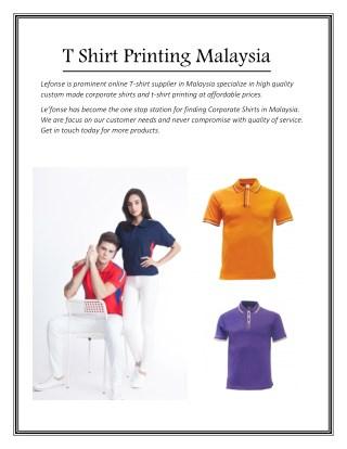 T Shirt Printing Malaysia - Lefonse