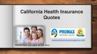 California health insurance quotes