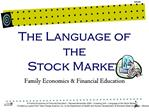 The Language of the  Stock Market