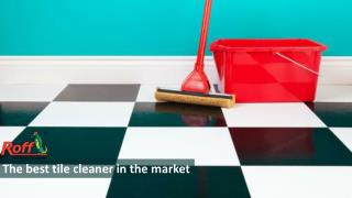 The best tile cleaner in the market