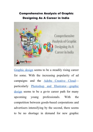 Comprehensive Analysis of Graphic Designing As A Career in India