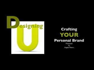 Understanding OUR Brand: Crafting Our Digital Profile
