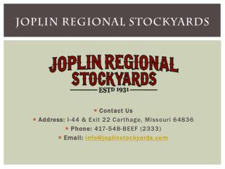 Livestock Market, Auction & Cattle Sales - Joplinstockyards