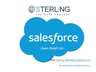 Email List of Salesforce.com Customers