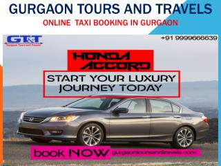 Get Online Taxi Booking in Gurgaon - Gurgaon Tours And Travels