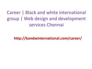 Career | Black and white international group | Web design and development services chennai
