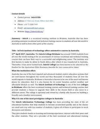 Intech Technologies