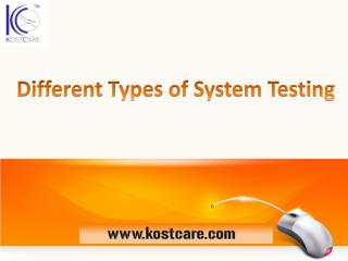 Different Types of System Testing | SQA Testing Company