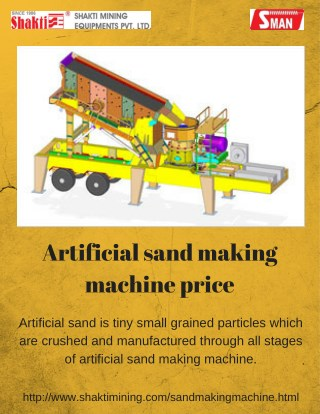 Artificial sand making machine price