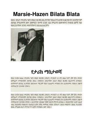 Marsie-Hazen Bilata Blata