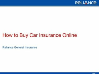 How to Buy Car Insurance Online-Reliance General Insurance